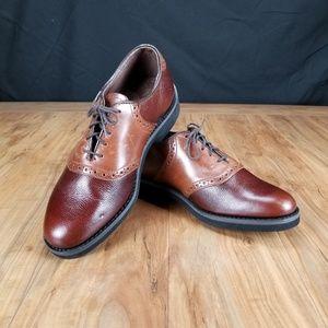 Dexter 2 Tone Pebble Leather Oxfords Men's 11